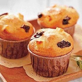 プルーンとチーズのカップケーキ