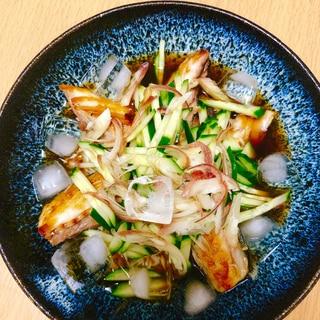 風味豊かな焼きサバぶっかけ冷や素麺