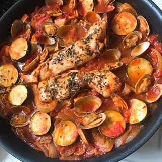トマト缶で煮込むだけ!簡単アクアパッツァ