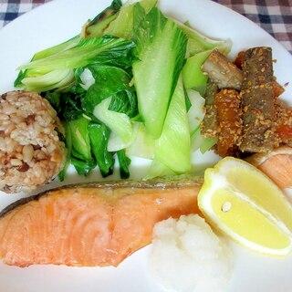 鮭の塩焼きダイエットプレート