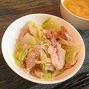 白菜と豚肉の和風蒸し