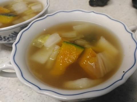 白菜と南瓜の中華スープ