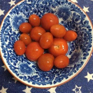 ミニトマトで♪湯剥き不要簡単ピクルス