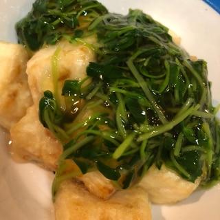 フライパンで揚げたし餡掛け豆腐 幼児食〜