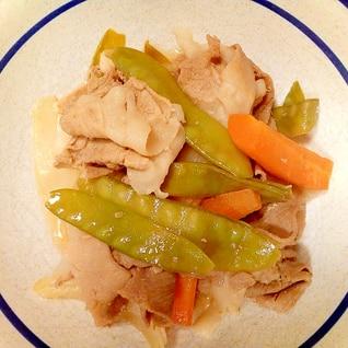 豚肉と絹さやの煮物