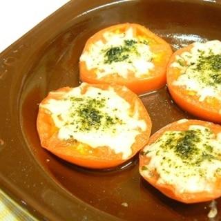 チーズのせ焼きトマト★ガーリック風味