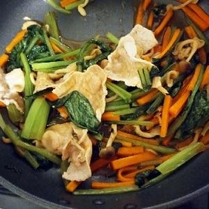 サッと簡単。小松菜・しめじ・ベーコンあっさり炒め