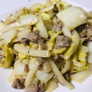 簡単!白菜と挽き肉のオイマヨ炒め♫