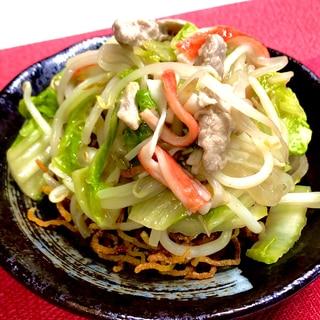 あんかけ揚げそば❤️野菜たっぷり揚げ焼きそば