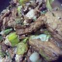 葱生揚げの味醂醤油炒め煮