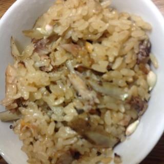 秋刀魚の炊き込み御飯
