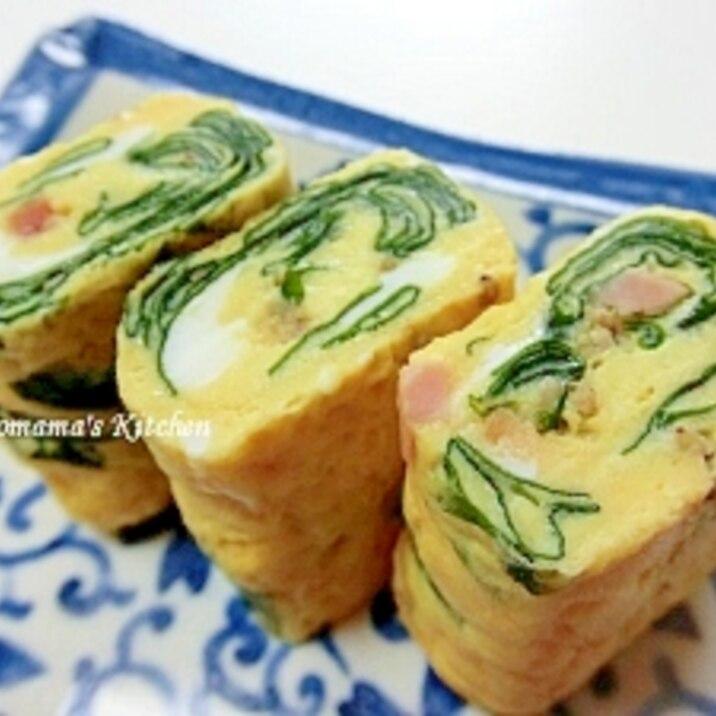 焼豚ワカメの卵焼き~お弁当用~
