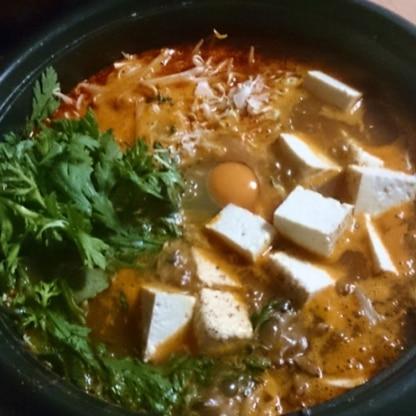 キムチとお肉を炒めたらすっごくいい匂いで一気にお腹すきました!お野菜いっぱい摂れて身体もポカポカ。ごちそう様でした(^^♪