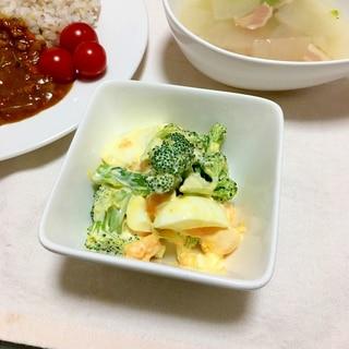 パパ絶賛!ブロッコリーと茹で卵の辛子マヨ和え♡