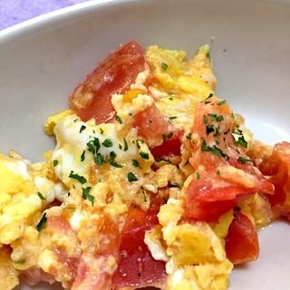 トマトと卵の粉チーズ炒め