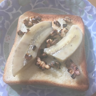 バナナくるみトースト