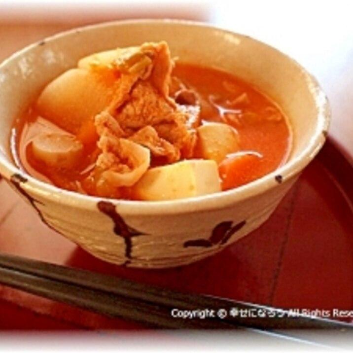 たっぷり野菜の韓国風粕汁