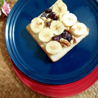 クリームチーズのバナナ豆胡桃パン(東京産)