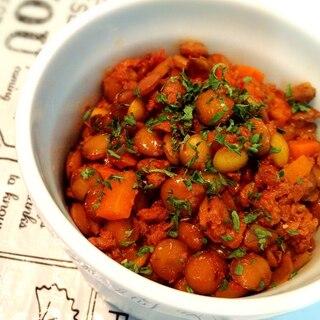 簡単!作り置きお弁当レシピ!レンズ豆のトマト煮