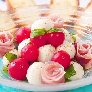 【包丁ナシ!】完熟プチトマトのカプレーゼ♪