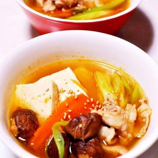 キムチの残り汁で作るコク旨スープ