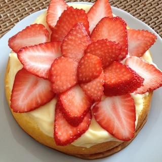 手抜き♡イチゴのスポンジケーキ