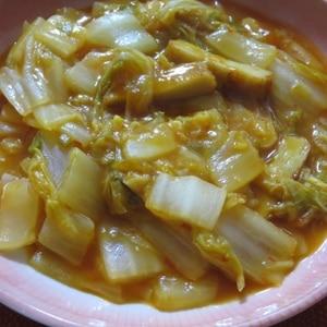 白菜とさつま揚げのチリソース煮
