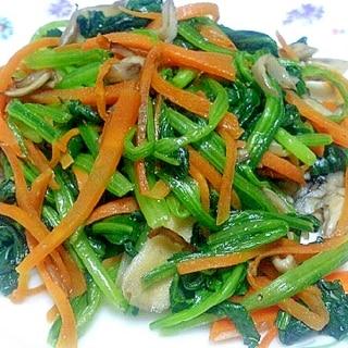 舞茸とほうれん草の炒め物