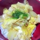 鶏肉とはんぺんの卵とじ丼