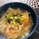 夏バテ防止に☆たっぷり白菜とひき肉の酸辣湯スープ