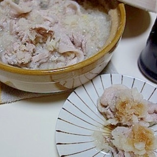 大根おろし×豚肉の一人雪見鍋