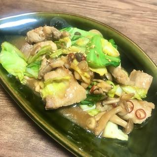 豚肉とキャベツとしめじの味噌炒め*