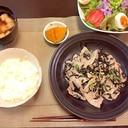 豚肉とひじきの塩麹炒め~生姜風味~