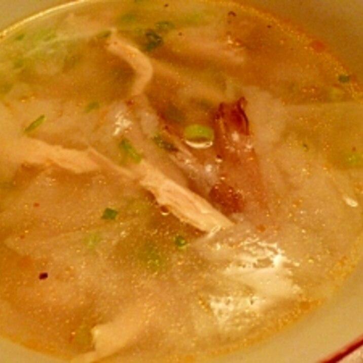 余った春巻の皮でワンタン風スープ