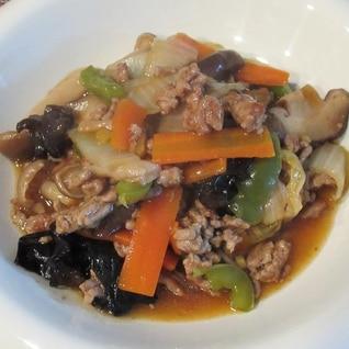 豚ひき肉と野菜の中華あんかけ