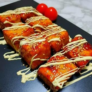 中華風☆サイコロ豆腐ステーキ