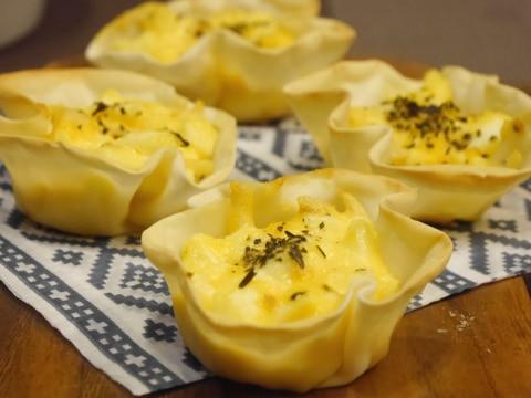 餃子の皮とゆで卵で★簡単キッシュ風