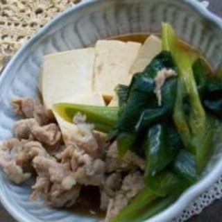 めんつゆで簡単!肉豆腐☆