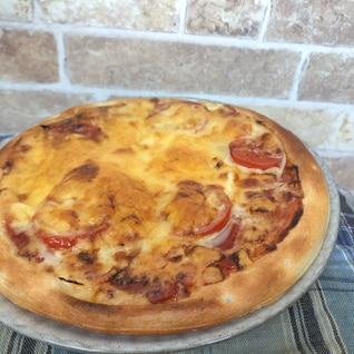 市販のピザ生地で簡単ピザ