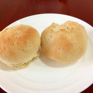 オーブントースターで作る、薄力粉だけの手作りパン
