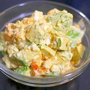 簡単、うまい! アボガドと卵のマヨネーズサラダ