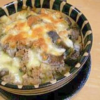 絶品★なすとひき肉の味噌チーズドリア