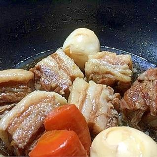 圧力鍋で豚バラブロック基本の角煮