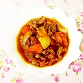 完熟柿のカレースープ