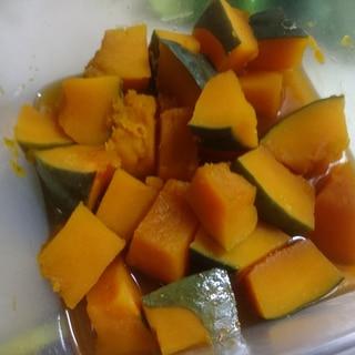 レンジとめんつゆでかぼちゃの煮物