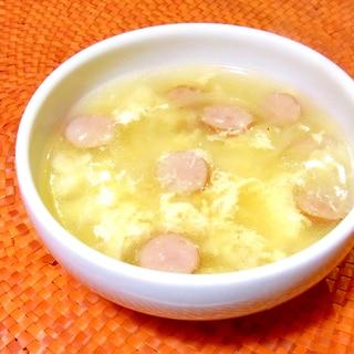 ウインナーと溶き卵のスープ