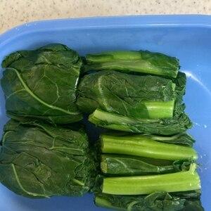旬菜「かき菜」のおいしい茹で方