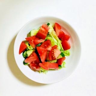 麺つゆで簡単ドレッシングサラダ