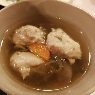 混ぜて入れるだけの鶏団子スープ