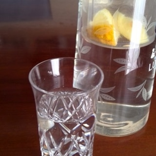 簡単 塩レモンのフレーバーウォーター